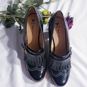 daniblack Shoes - Daniblack Colgate Loafer Heels Size 8M